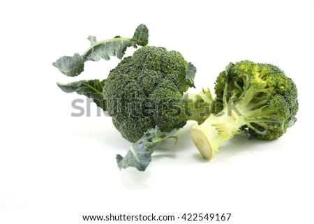Fresh Broccoli isolated on white background green vegetable for raw food.