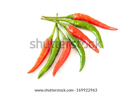 fresh chili pepper isolated on a white background