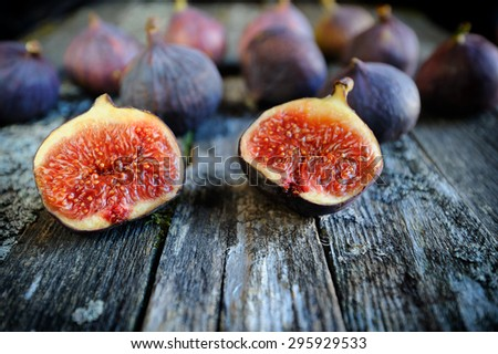 Fresh figs fruits close-up