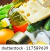 Fresh food for health and longevity - stock photo