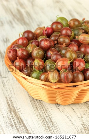 banana fresh gooseberries in wicker fresh gooseberries in bowl on