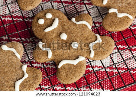Fresh Homemade Gingerbread Men ready for the Holidays