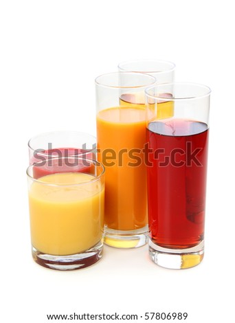Fresh juice isolated on white background
