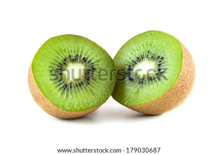 Fresh kiwi fruit isolated on white background