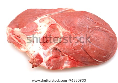 fresh meat isolated on white