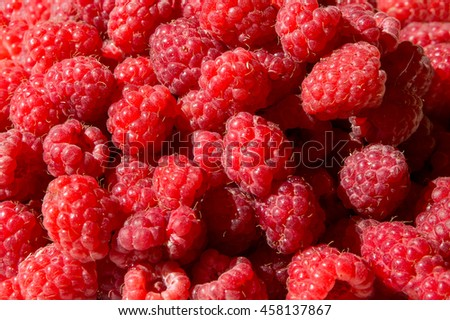Fresh Raspberry as a background
