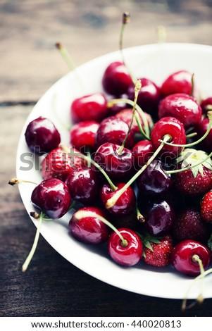 Contrast in texture food