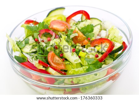 fresh salad in the bowl fresh salad in the bowl