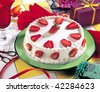 Fresh Strawberry Cake - stock photo
