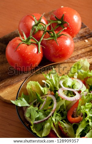 fresh vegetables in salad