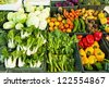 Fresh vegetables market, thai - stock photo