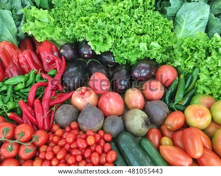 Fresh vegetables with amazing colors