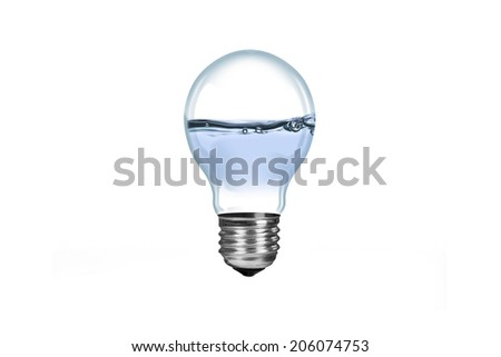 Fresh Water in Lamp,  isolated on white background.