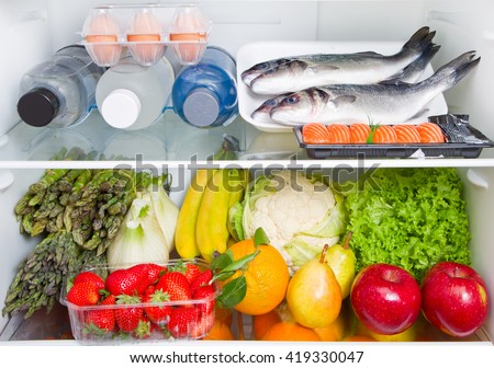 fridge full of food: Mediterranean diet