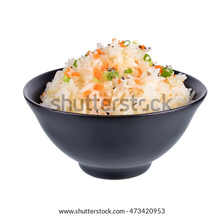 Fried rice with garlic butter