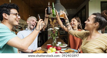 Friends Party Cheers Celebration Concept
