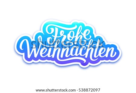 frohe weihnachten deutsch text on paper stock vector. Black Bedroom Furniture Sets. Home Design Ideas