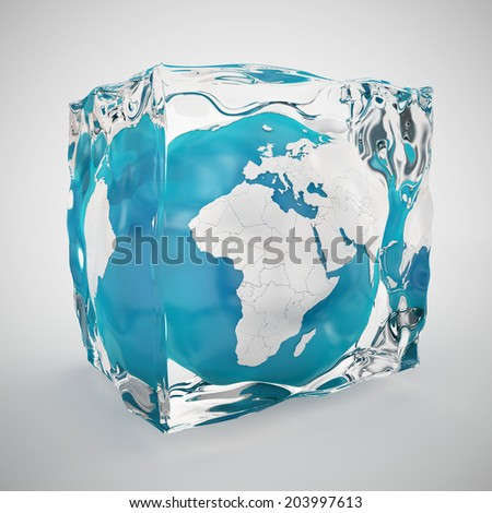 frozen world or ice age