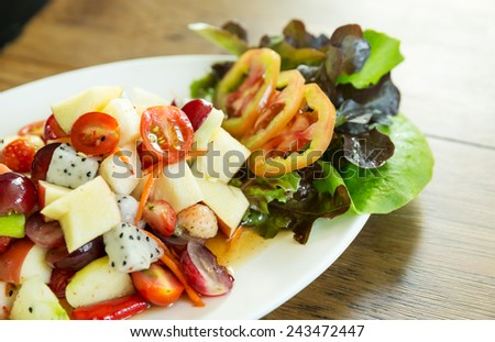 fruit and vegetable salad dish, spicy fruit salad