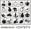 Fruit Icon - stock photo