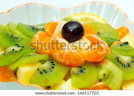 Fruit salad in vase