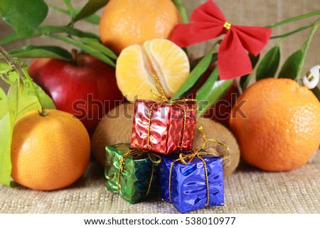 fruit with gifts