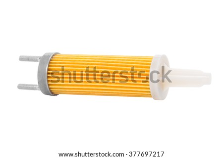 fuel filter for power generator with engine isolated on the white background
