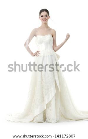 Gown wedding stock photos gown wedding stock photography for Full body wedding dress