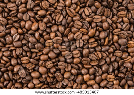 Full frame of coffee beans.