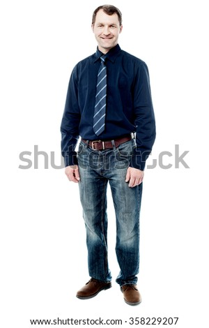 Full length picture of a business man
