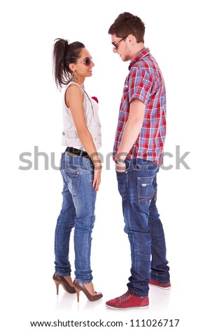Apologise, casual teen couple standing risk