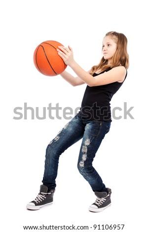 photo of girls playing basketball № 17578