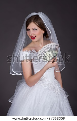 Fun Bride with money
