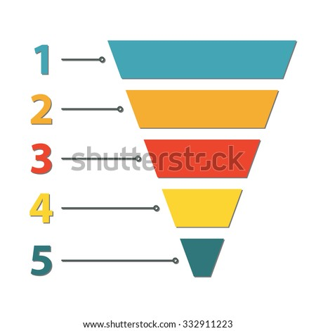 Funnel Symbol Marketing Sales Template Business Stock Vector ...