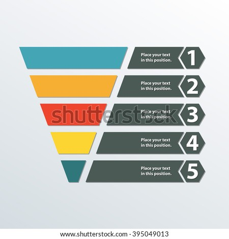 business infographics stages sales funnel aida stock vector 575441161 shutterstock. Black Bedroom Furniture Sets. Home Design Ideas