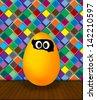 Funny easter egg - stock photo