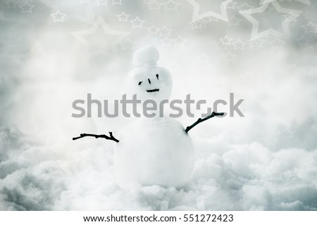 funny winter background with small cool snowman, cold snow funny wallpaper