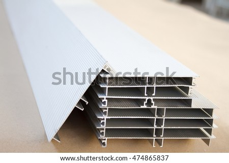 Furniture accessories. Metal profiles of different sizes and shapes.