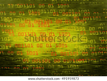 future technology, yellow cyber security concept background, abstract hi speed digital internet.motion move speed blur.