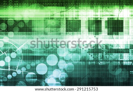 Futuristic Abstract with Metallic Blocks and Circles background