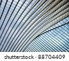 Futuristic Liege-Guillemins railway station - stock photo