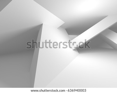 Abstract Smooth White Interior Future Architectural Stock