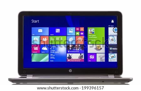 Laptop Blank White Screen On White Stock Photo 207784369 ...