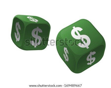 Gamble with international currency dice