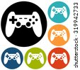 game joypad icon - stock vector
