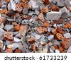 Garbage bricks heap - stock photo