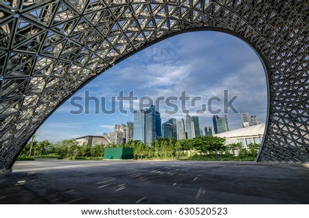 garden by the bay singapore oct 8 2016 singapore cbd area as