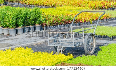Old Farm Machinery Used Create Colorful Stock Photo