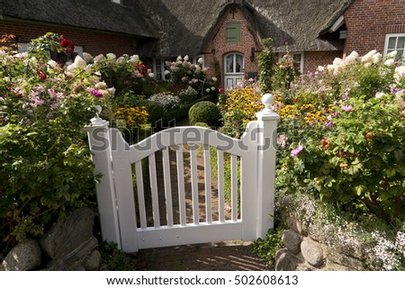 Garden in Northern Frisia in Germany