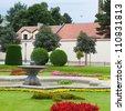 Garden of the of Vienna in Austria - stock photo